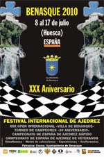 Cartel del XXX Festival de Ajedrez de Benasque