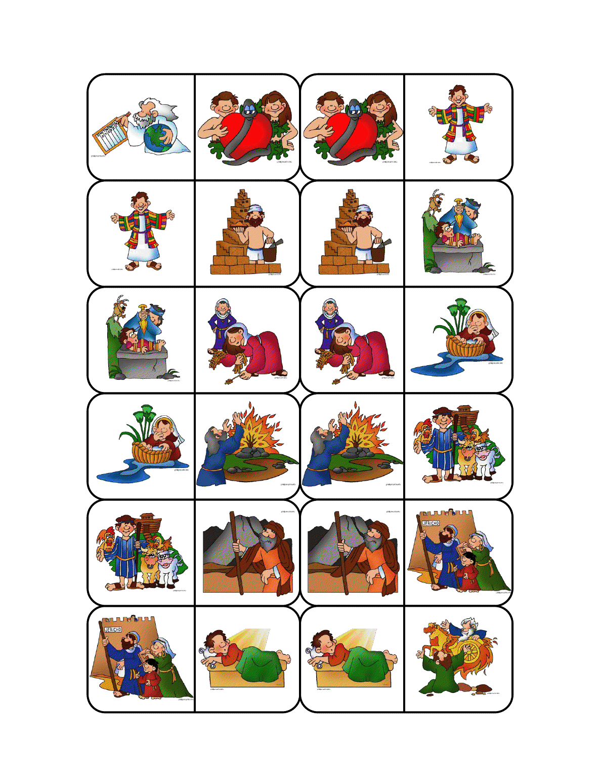 The Catholic Toolbox Bible Story Dominos Game