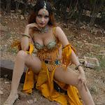 Hot Actress Anu Vaishnavi Deep Cleavage Navel And Thigh Show.