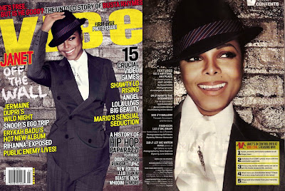 Janet Jackson in Vibe the photo issue by Michelangelo di ...