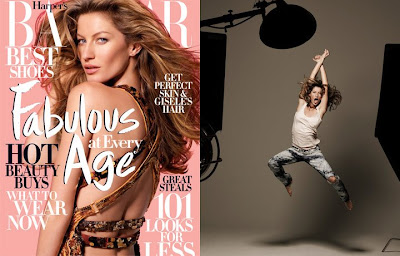 Gisele Bundchen on The April Cover of Harper's Bazaar