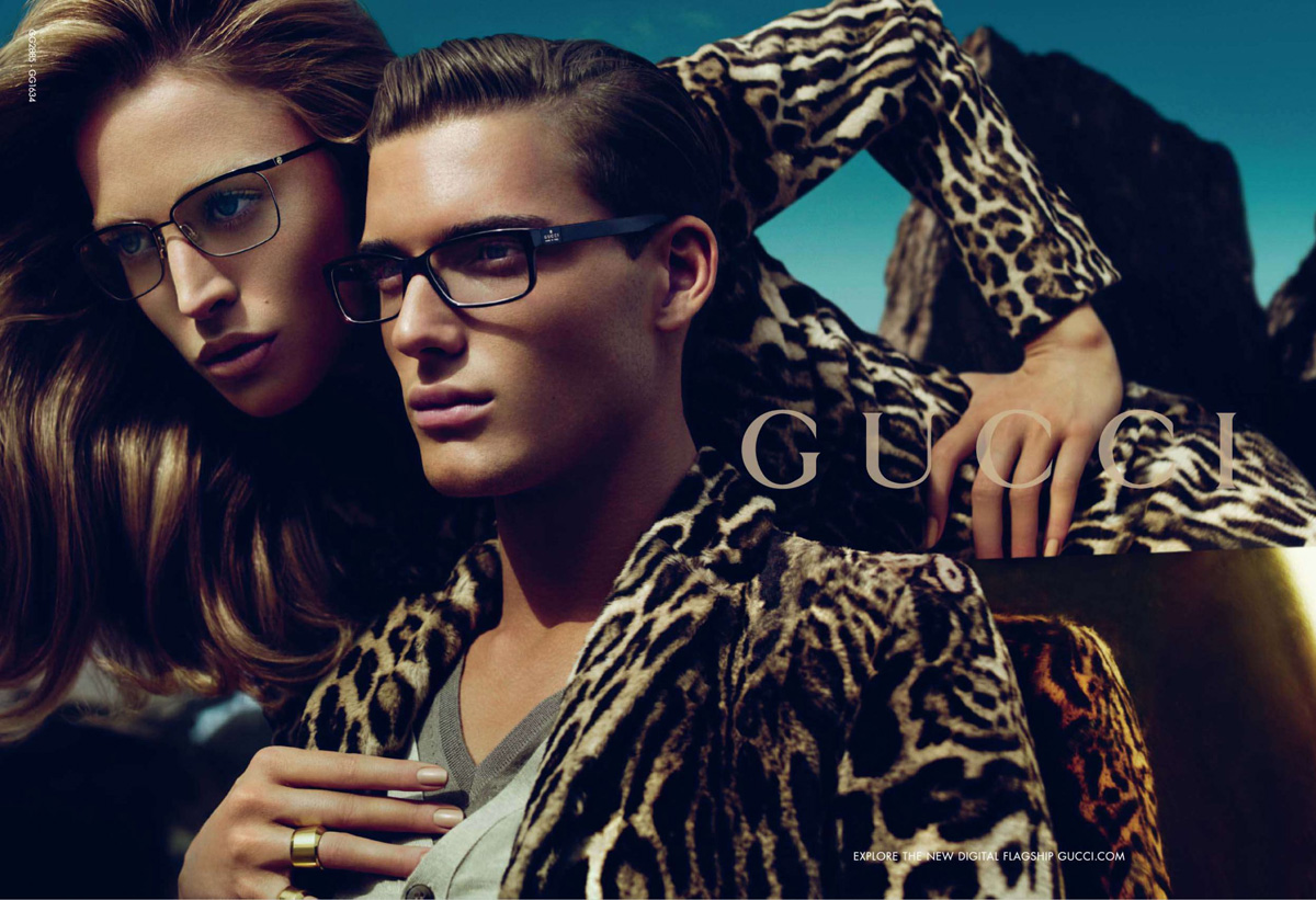 b0cdf4ebb0 Ad Campaign: Gucci Season: FW 2010. Models: Raquel Zimmermann  DNA,VIVA,  Why Not  and Nikola Jovanovic  VIVA, Ford  Photographed by Mert Alas and  Marcus ...