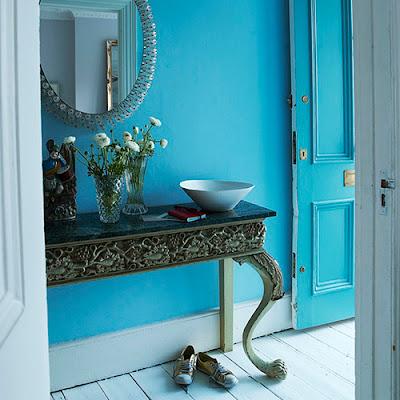 Feng shui elemento tierra for Paredes azul turquesa