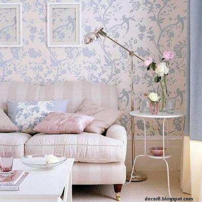 se logran hermosas y delicadas ubicando empapelados en una pared en columnas o vigas en zcalos de u cm de altura y pintando el resto