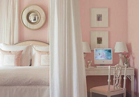 Decorar en tonos rosas - Combinacion de colores para paredes de banos ...