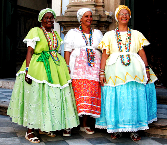 Brazilian Woman Of African Descent Wearing Traditional