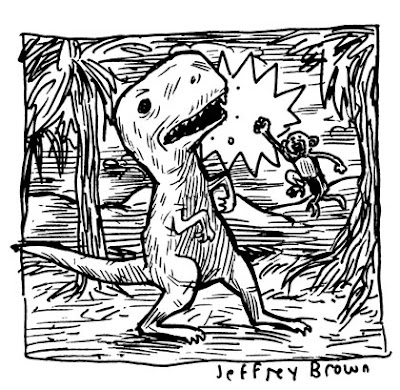 Monkey Punch Dinosaur! by Jeffrey Brown