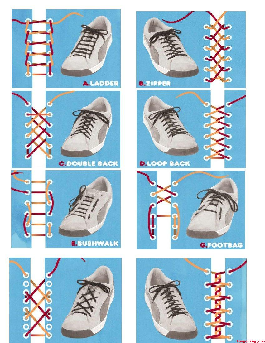 Creative Shoe Lacing
