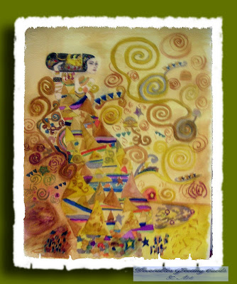 Watercolours Inspired by Klimt and Chagall
