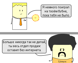 Сюжет #22. Про системных администраторов, для системных администраторов