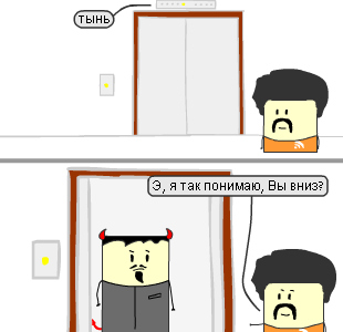 Сюжеты #73. Комикс про лифт