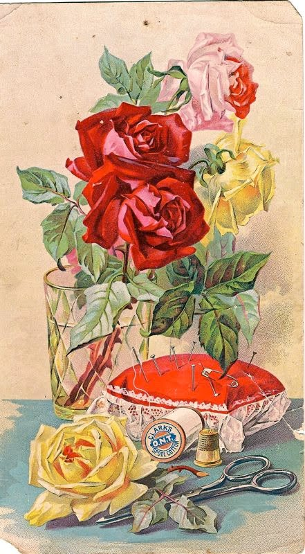 Sewing Vintage Postcard
