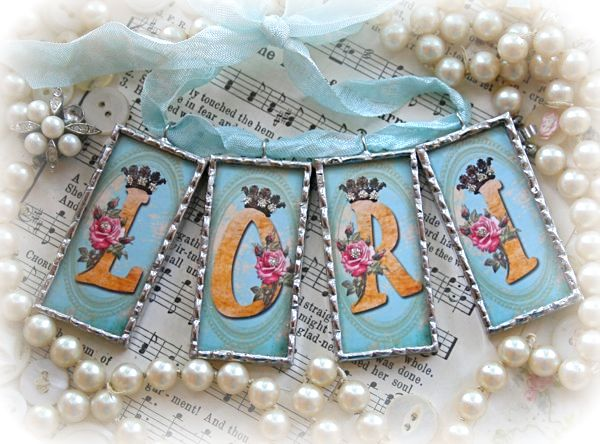 New Initial Charms & Embellished Bottles