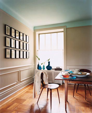 She And Her Designer Want To Paint The Ceilings Colors Similar Wall Color Of Each Room