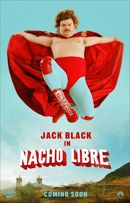 Poster Of Free Download Nacho Libre 2006 300MB Full Movie Hindi Dubbed 720P Bluray HD HEVC Small Size Pc Movie Only At worldfree4u.com