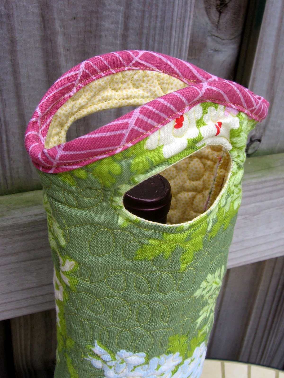 Needle And Spatula Quilted Wine Tote Sewing Tutorial