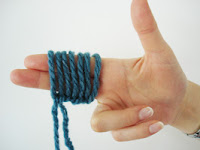 tricot avec les doigts