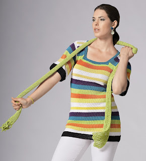 tricot pull echarpe