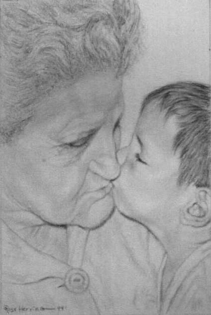 Graphite Pencil-Grandmotherly Love