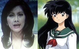 Isyana Bagus Oka (RCTI) dan Higurashi Kagome (Inuyasha)