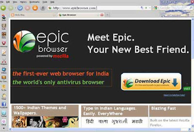 A New Web Browser from India - Epic Browser - Others Forum