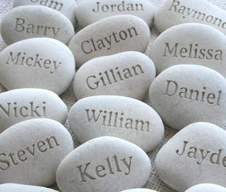 personalized engraved pebbles