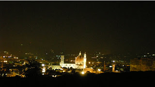 firenze di notte vista dal forte belvedere