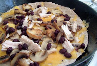 Quesadillas Day 52: Chicken, Black Bean & Mushroom Quesadillas