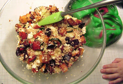 Veg+couscous Day 44: Roasted Veg with Couscous and Feta