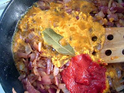 Lamb+%26+peas+ingredients Day 105: Ground Lamb with Peas and Yogurt (Keema Matar)