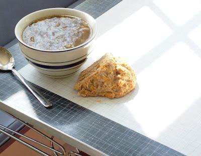 Lentil+soup+%26+soda+bread Day 122: Sausage & Lentil Soup and Cheddar Irish Soda Bread
