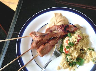 Pork+satay Day 136: Pork Satay with Peanut Sauce