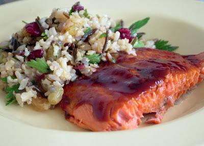 Hoisin+Salmon Day 128: Hoisin Salmon, Brown & Wild Rice Salad and Sangria