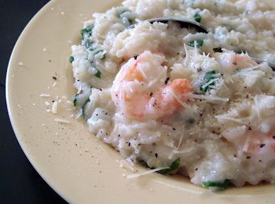 Shrimp+%26+Spinach+Risotto Day 135: Shrimp and Spinach Risotto