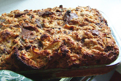 Bread+pudding Day 147: Leftover Roast Chicken and Coffee & Chocolate Bread Pudding