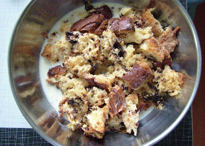 Bread+pudding+first Day 147: Leftover Roast Chicken and Coffee & Chocolate Bread Pudding