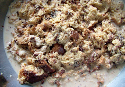 Bread+pudding+mush Day 147: Leftover Roast Chicken and Coffee & Chocolate Bread Pudding