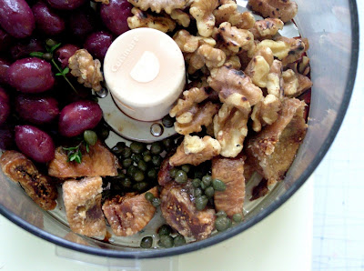 Fig+Olive+Tapenade+in+the+blender Day 159: Chicken Shawarma and Fig Olive Tapenade