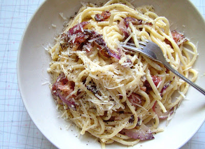Carbonara Day 168: Spaghetti Carbonara with Caramelized Onions