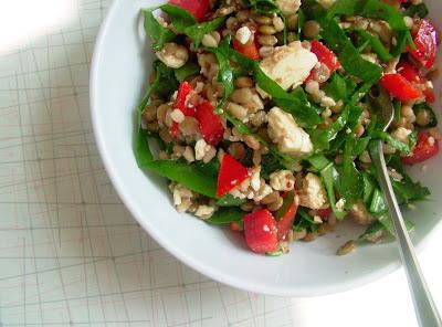Lentil %26 Barley Salad Day 185: Barley, Lentil & Spinach Salad