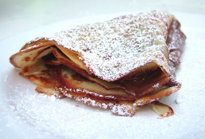 Nutella+Crepe Day 206: Tacos, Peach and Cornmeal Upside down Cake and Crêpes with Nutella