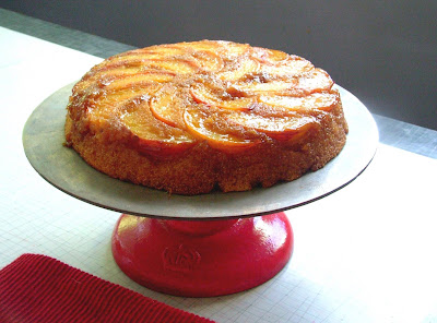 Peach+Cornmeal+Cake Day 206: Tacos, Peach and Cornmeal Upside down Cake and Crêpes with Nutella