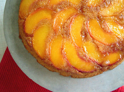 Peach+Cornmeal+Cake+Close up Day 206: Tacos, Peach and Cornmeal Upside down Cake and Crêpes with Nutella