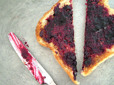 Toast+%26+Jam Day 215: Toast and Black Currant Jam