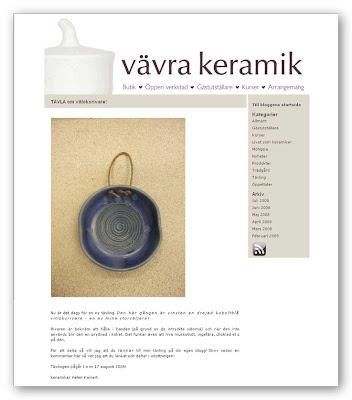 Tävling på Vävra keramik