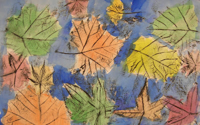 Autumn Leaves with Crayon Resist • TeachKidsArt