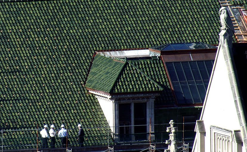 Architecturechicago Plus Big Green Tile Roof On