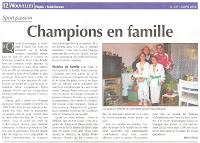 Artigo Champions en Famille 2006:
