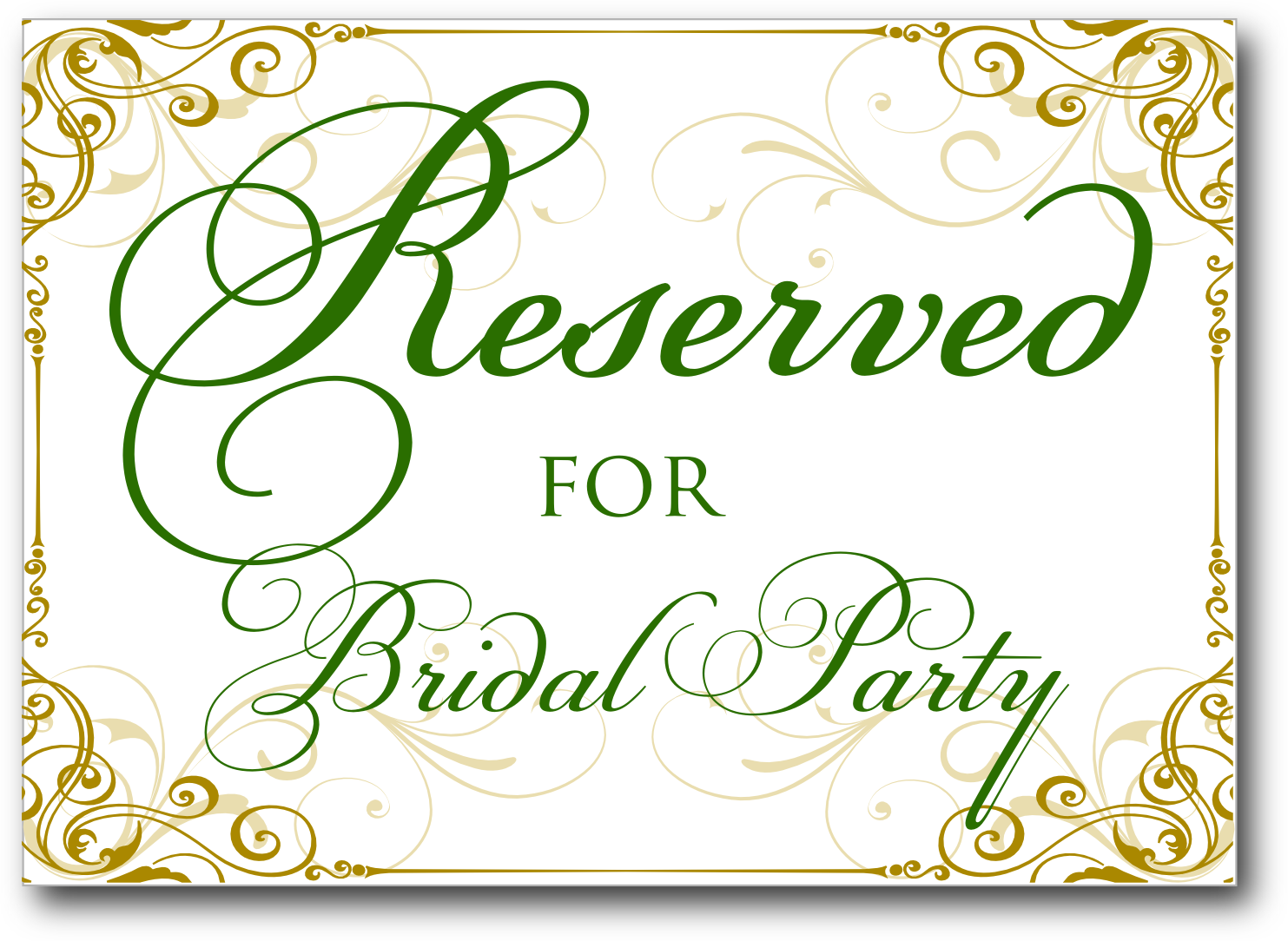Reserved Signs For Chairs Template Dye Upholstered Chair Free Table Sign Car Interior Design