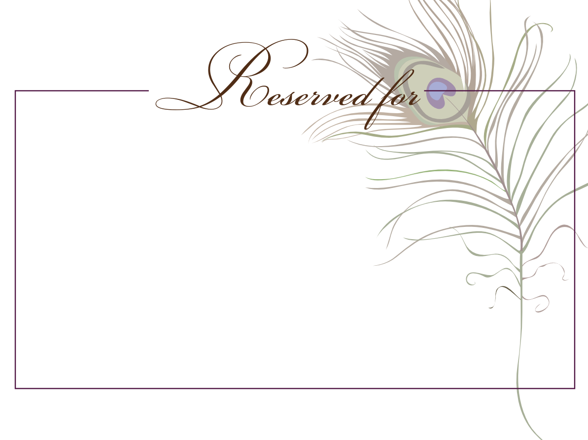 table reservation card template - reserved sign template pictures to pin on pinterest